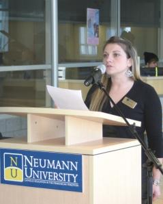 Brande Marshall, Neumann University Student
