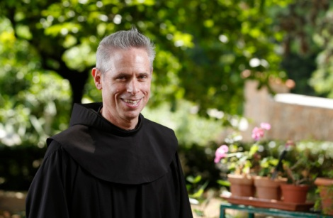"U.S. Franciscan Father Michael Perry, minister general of the Order of Friars Minor, is pictured at the Franciscan headquarters in Rome June 12. Father Perry discussed ""Laudato Si',"" the title of Pope Francis' encyclical on the environment, which is taken from a hymn by St. Francis of Assisi. (CNS/Paul Haring)"
