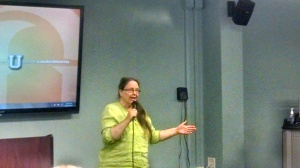 Sr. Sharon Havelack at Lourdes University.