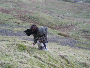 climbing hill